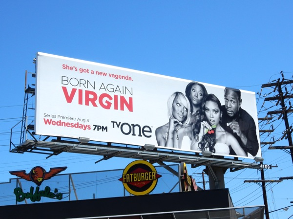 Born Again Virgin series premiere billboard
