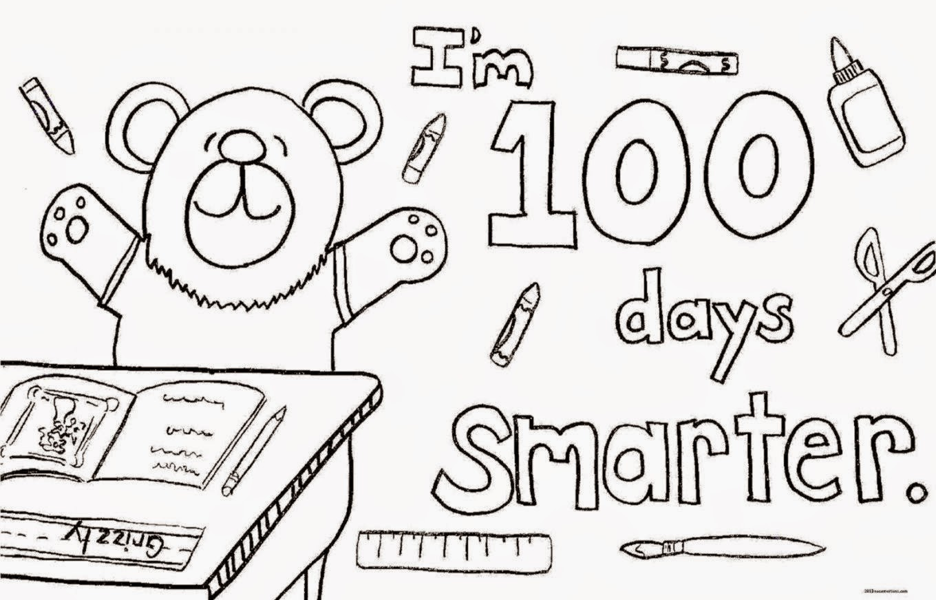 This is an image of Lucrative Coloring Sheets For 100th Day Of School