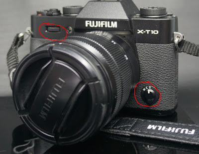 Kontrol Bagian Depan Kamera Fuji X-T10