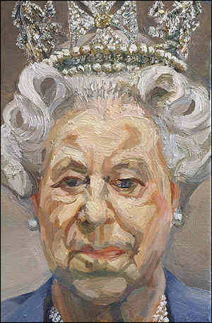 lucian freud, Portrait of the Queen