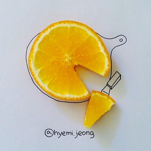06-Orange-Pizza-Hyemi-Jeong-Everyday-Things-to-Draw-With-www-designstack-co