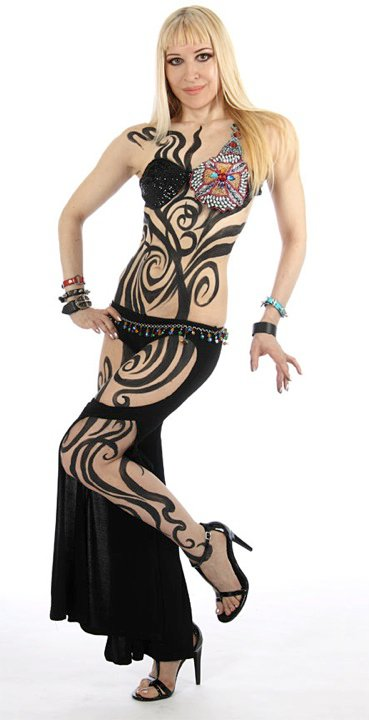Belly Dancer Neon S Body Paint Free Belly Dance Classes