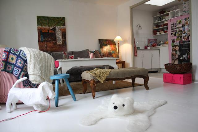 tapis enfant ours blanc