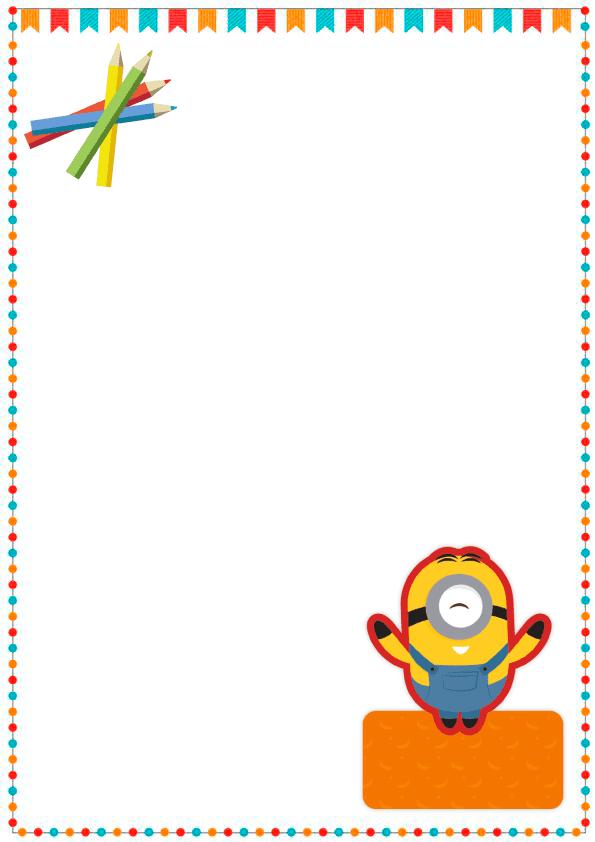 caratulas para cuadernos para niños y niñas de primaria de hermoso minion