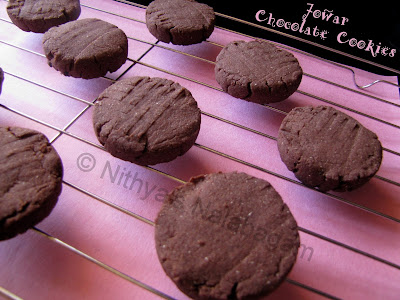 Jowar Chocolate Cookies