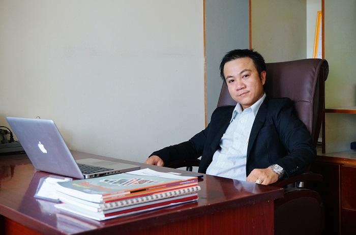 Ông Nguyễn Ngọc Ấn - Giám đốc kinh doanh lĩnh vực máy ép bùn Việt Nam: khung bản, băng tải, ly tâm VP Tổng Cty tại TPHCM