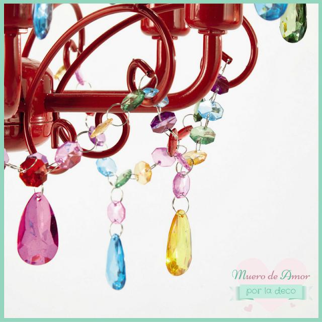 Lámpara de colores para decoración de tiendas