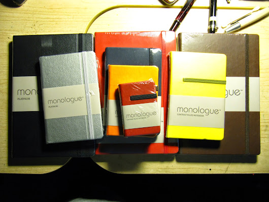 Pens Paper Inks...Whatever!: Monologue Notebooks