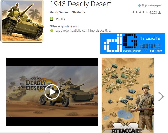 Trucchi 1943 Deadly Desert Mod Apk Android v1.0.2