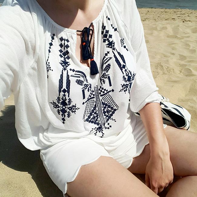 scalloped, DIY, Burda style, nähen, sewing, H&M, Hennes Mauritz, beach Strand, Urlaub, vacation, Strandoutfit