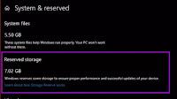 Spazio Riservato in Windows 10: attivarlo o disattivarlo?