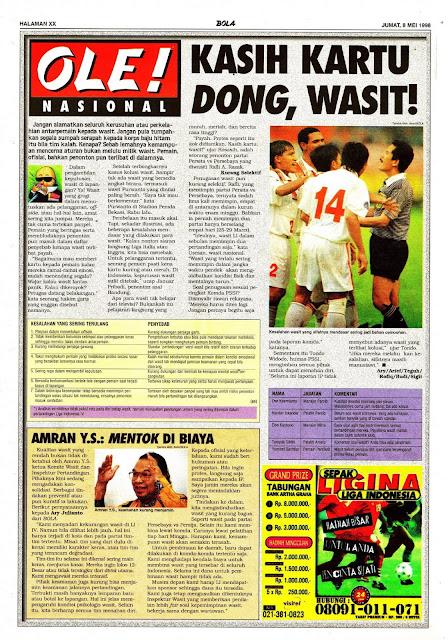 SEPAKBOLA LIGA INDONESIA 1998 BERITA WASIT
