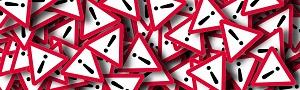 segnale di pericolo bianco nero e rosso