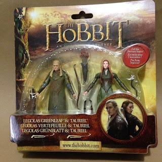 The hobbit legolas greenleaf & tauriel figures twin pack