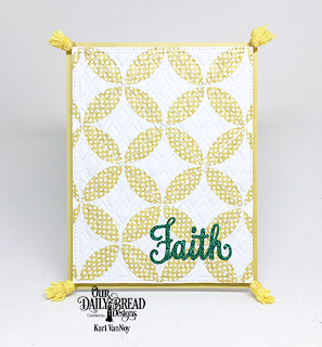 Our Daily Bread Designs Stamp/Die Duos: Walk by Faith, Custom Dies: Quilted Window Squares, Lattice Background, Paper Collection: Plum Pizzazz