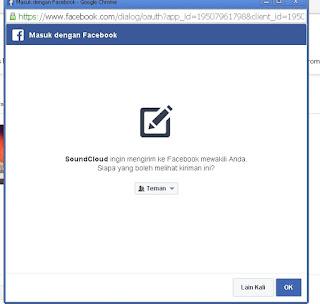 Masuk dengan facebook