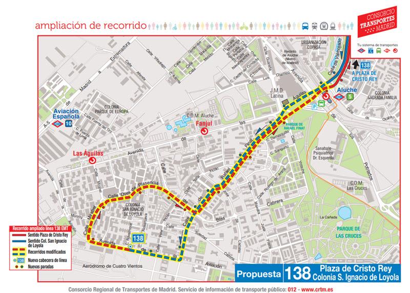 Mapa Lineas Emt Madrid.La Linea 138 De Autobuses Emt Llega Al Barrio De Las Aguilas Y Se Suprime La Linea 117 Es Por Madrid