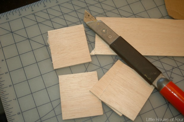 Cutting wood tags