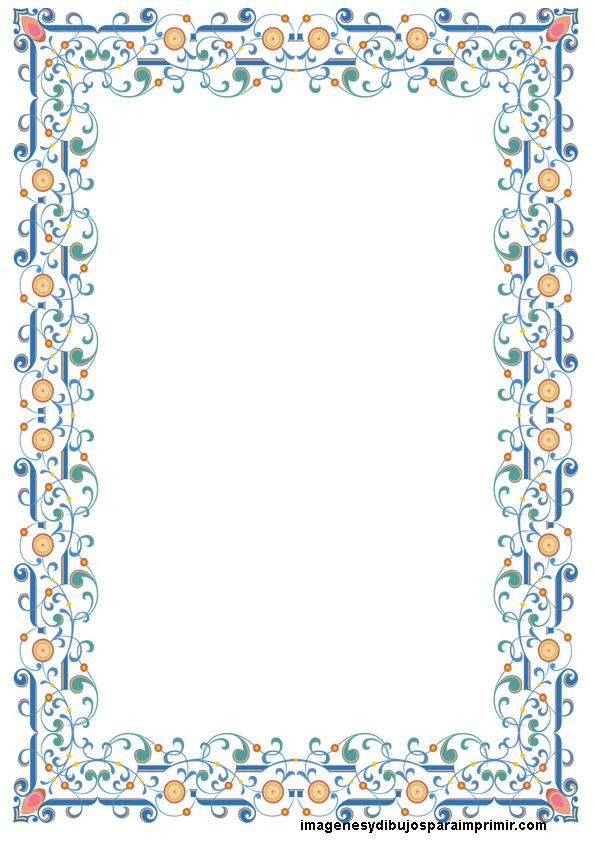Folios decorados para imprimir