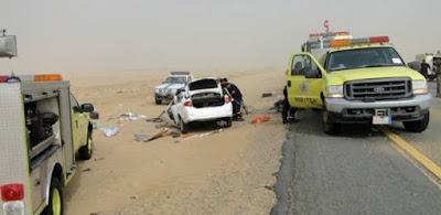 مصرع 3اشخاص وأصابة 19على الطريق الصحراوى ببنى سويف
