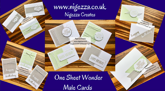 Nigezza Creates Male Card OSW Using Stampin' Up! Twinkle Twinkle DSP