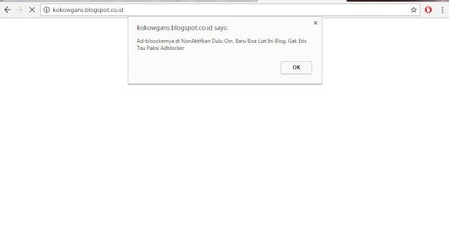 memasang anti adblock pada blog