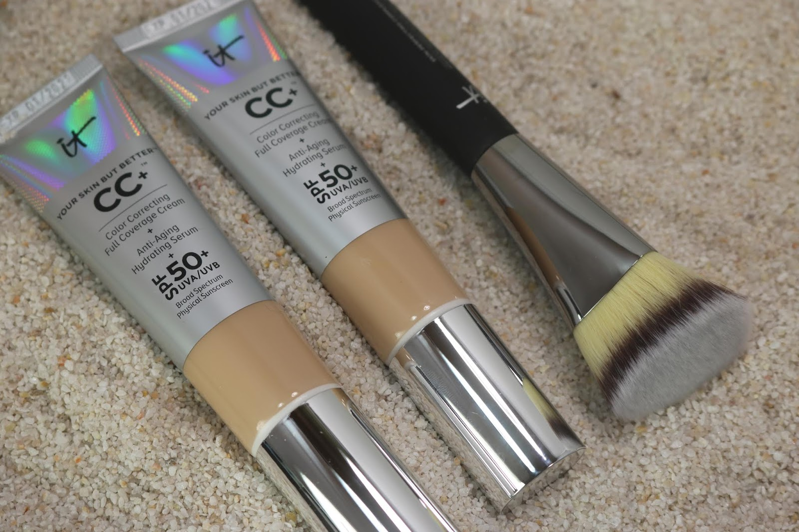 IT's Your Skin But Better IT Cosmetics's CC+ Color Correcting Cream Duo + Brush Collection