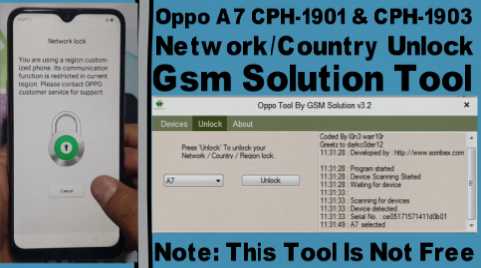 How To Oppo A7 CPH-1901 & CPH-1903 Network/Country Unlock By Gsm