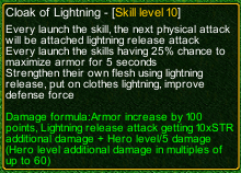 naruto castle defense 6.2 Cloack of Lightning detail