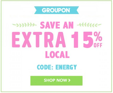 Groupon Extra 15% Off Local Deal Promo Code