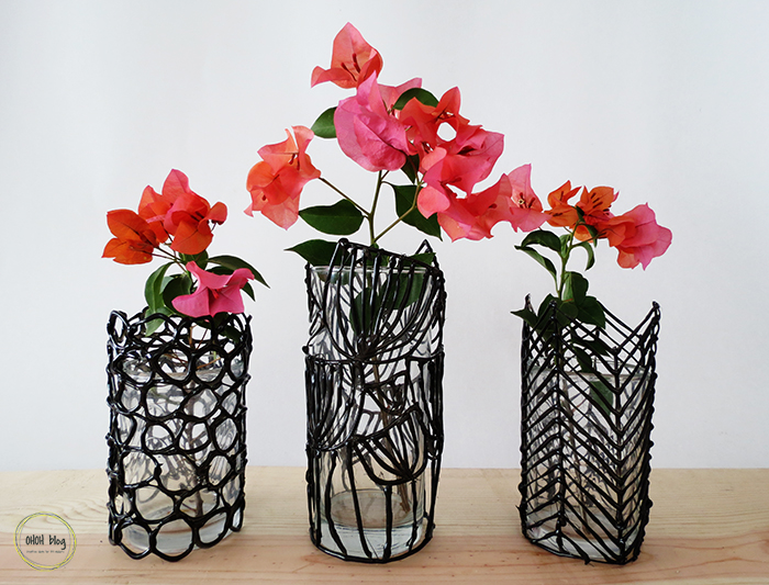 Turn A Boring Glass Into A Modern Vase Ohoh Blog