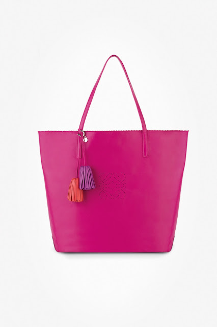 Loewe Bright Magenta Nappa Lia with Tassels Fall.Winter 2012-13