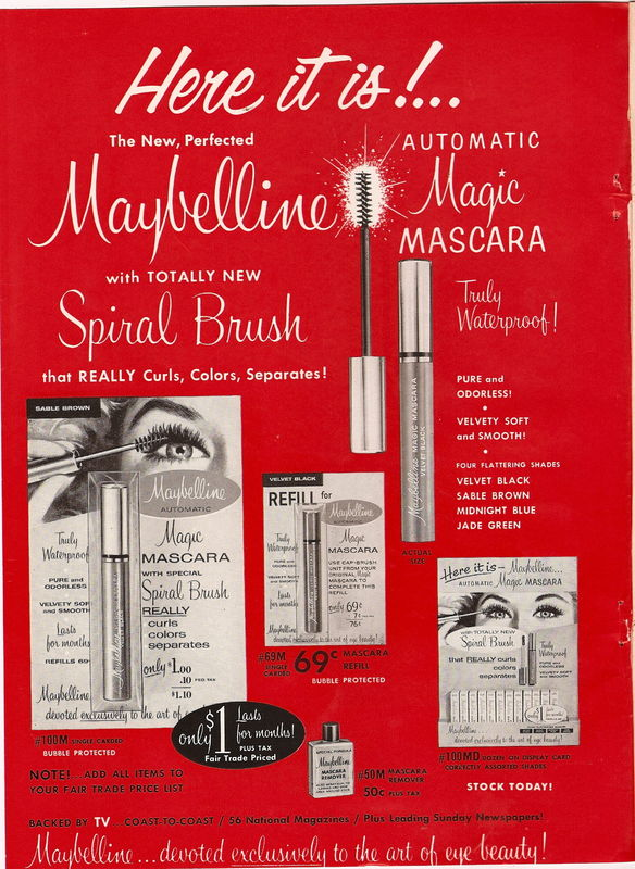 e5571b1d72a THE MAYBELLINE STORY : MAYBELLINE'S RED AND GOLD METAL BOXES.