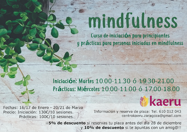 Plazas disponibles Mindfulness