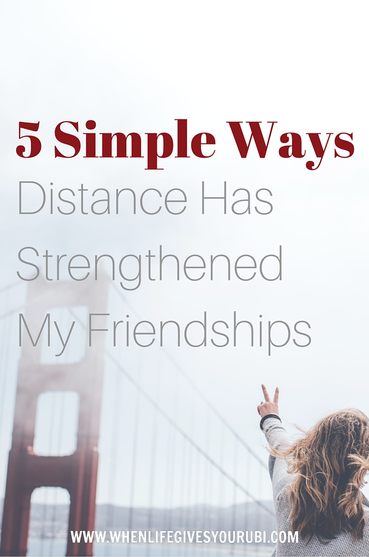 5 Simple Ways Distance Has Strengthened my Friendships :: Keeping in touch with friends after college is hard, but staying close when you move far away is even harder. Read on to see how distance has made my friendships closer and stronger than ever before.