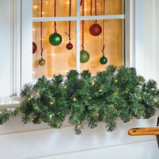 ventana navideña