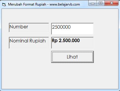 Cara Membuat Format Rupiah Pada VB 6.0