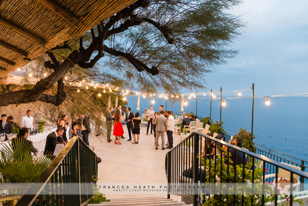 Wedding reception in Amalfi at hotel Santa Caterina