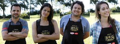 Na foto: Os quatro finalistas do reality show. Na ordem: Carlão, Isabela, Raphael e Joana. Crédito: Gabriel Gabe/SBT