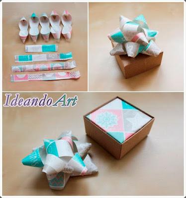 Lazo de papel para cajita DIY