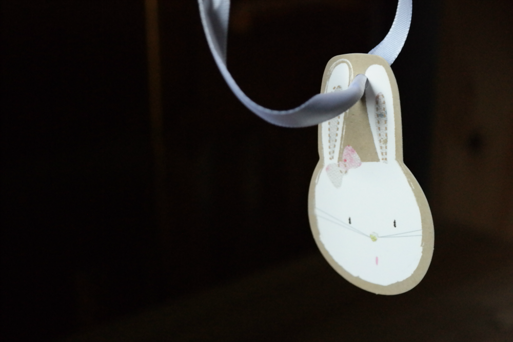 Rabbit gift tag