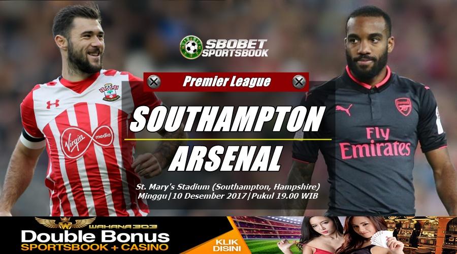 Prediksi Bola Southampton vs Arsenal 10 Desember 2017
