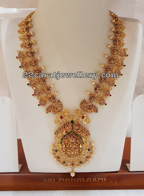 Uncut Diamond Necklaces with Lakshmi Peacocks