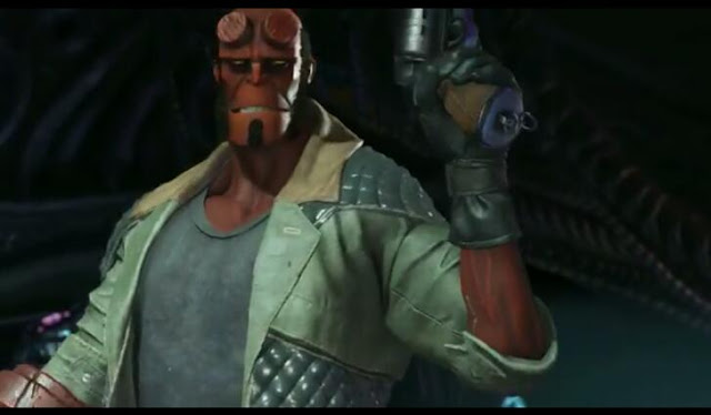 First screenshot from Hellboy trailer~Injustice 2