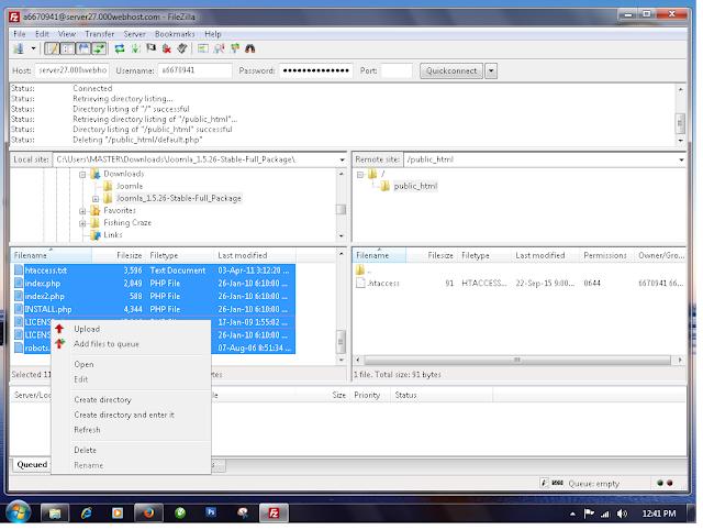 Memulai mengupload file website