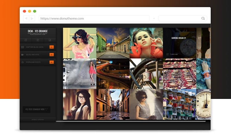 DCM-V2 Orange Blogger Template - Responsive Blogger Template