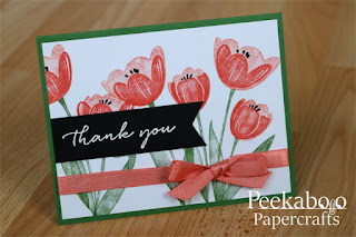 Spring Tulip Thank You Card