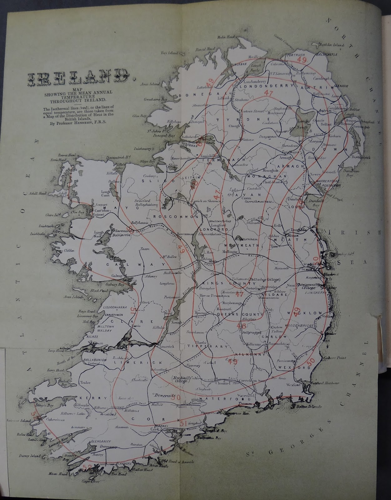fold out map of ireland from the travel guide irish health resorts watering places