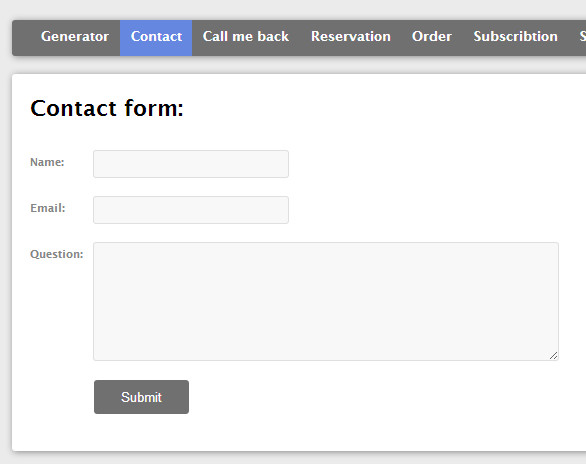 Multiple contact forms generator (AJAX + PHP)