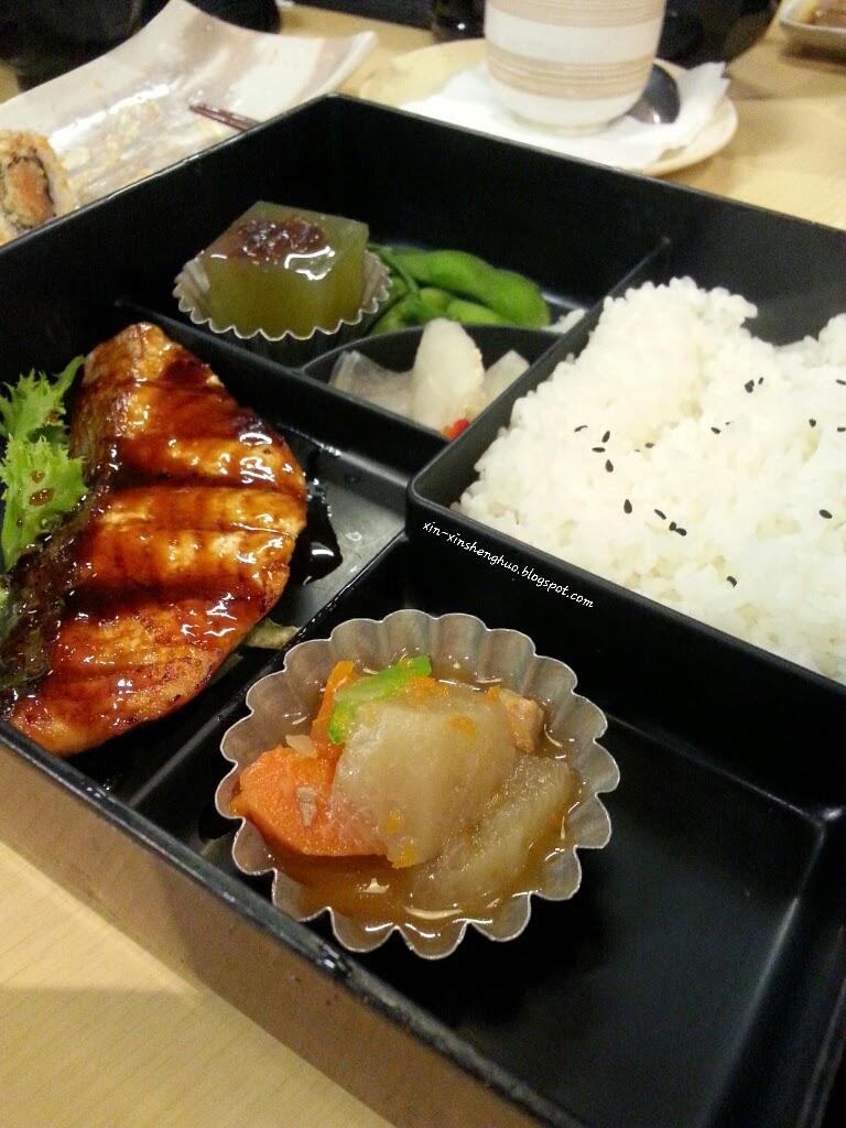 Salmon Bento Set (Teriyaki)
